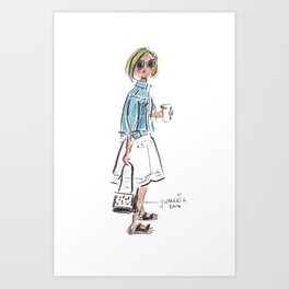 Birks & Coffee Art Print