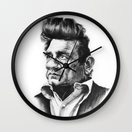 Caricature of Johnny Cash Wall Clock