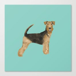 Airedale Terrier dog art cute gifts for dog lover pet friendly airedale terriers Canvas Print