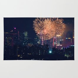 Fireworks in the City (Color) Rug