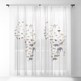 Wild Africa Sheer Curtain