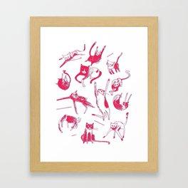 Falling Cats Framed Art Print