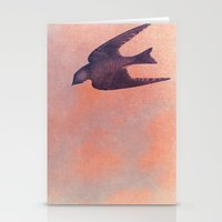 sparrow Stationery Cards featuring Sparrow by Lady Siren's Digital Artworks