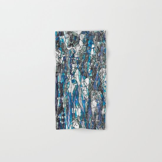 Abstract blue 2 Hand & Bath Towel