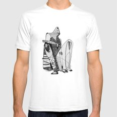 Wait, it's gonna be interesting (touch the ground) - Emilie Record MEDIUM White Mens Fitted Tee