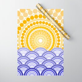 LIGHT OF DAWN (abstract tropical) Wrapping Paper