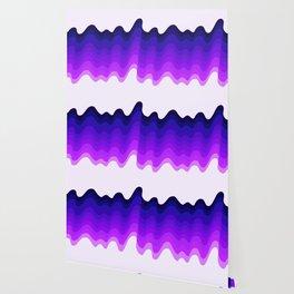 Retro Ripple in Purples Wallpaper