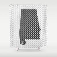 alabama Shower Curtains featuring Alabama Line by Beastie Toyz