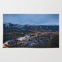 BRECKENRIDGE COLORADO PHOTO - WINTER NIGHT IMAGE - SKI TOWN PICTURE - CITY PHOTOGRAPHY Rug