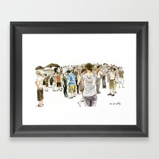 After it rained at McCarren Pool, we stopped and stared. I wish the moment lasted forever. Framed Art Print