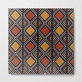 African Tribal Pattern No. 59 Metal Print