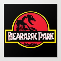 Bearassic Park Canvas Print