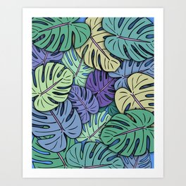 Monstera Leaves #6 Art Print