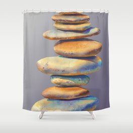 The Stone Mind Violet Edition Shower Curtain