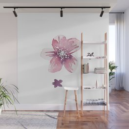 Lilac Pink Watercolour Fiordland Flower Wall Mural