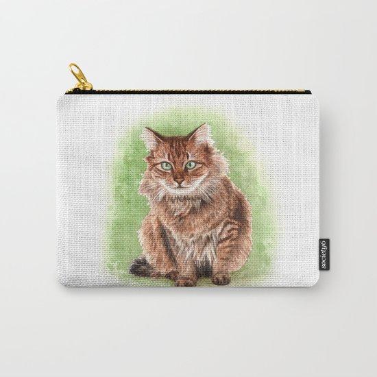 Somali cat portrait Carry-All Pouch