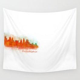 Philadelphia City Skyline Hq V3 Wall Tapestry
