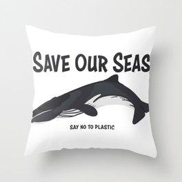 Save Our Seas Throw Pillow