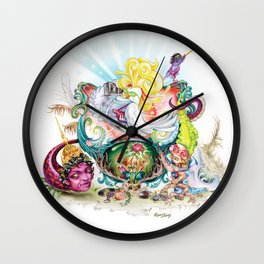 Pop Rooster Wall Clock