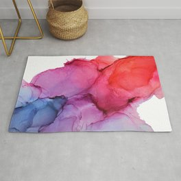 Bleeding Rainbow Blend - Alcohol Ink Painting Rug