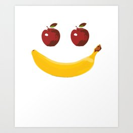 Smile Vegetable Design Art Print