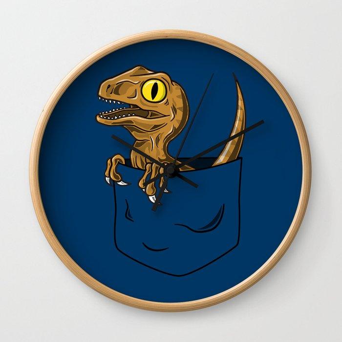 Pocket Raptor (Jurassic Park Velociraptor) Wall Clock