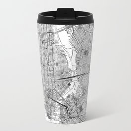 Vintage Map of New York City (1918) BW Travel Mug