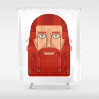 thor Shower Curtains featuring Thor  by FOUR SECOND MEMORY