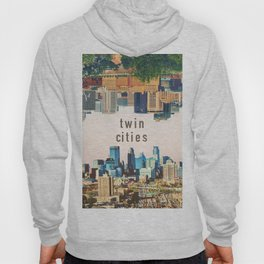 Twin Cities Minneapolis and Saint Paul Minnesota Skylines Hoody