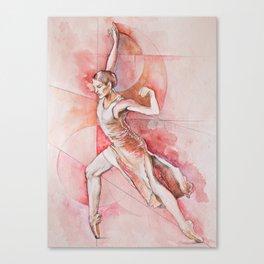 Float, watercolor & pastel Canvas Print
