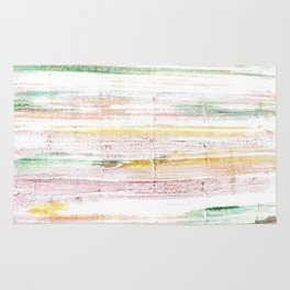 Baby powder abstract watercolor Rug