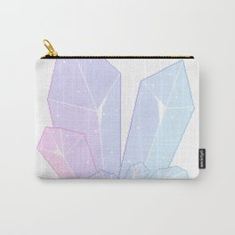 Crystal Fractures Transparent Carry-All Pouch