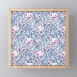Aloha Flamingo Pattern Framed Mini Art Print