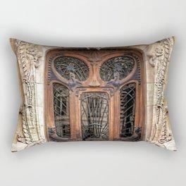 Art Nouveau 7th Arrondissement Paris France Ornate Doorway Rectangular Pillow