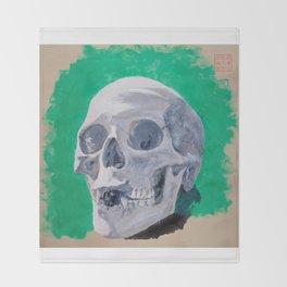 Toothless Skull Throw Blanket