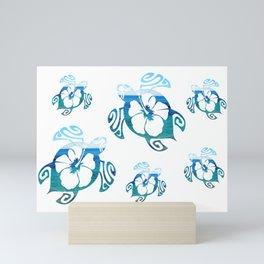 Turtle sea (mod 1) Mini Art Print