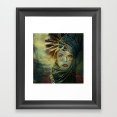 Masked Framed Art Print