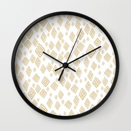 Baesic Golden Tribal Diamonds Wall Clock