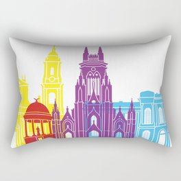 Bogota skyline pop Rectangular Pillow