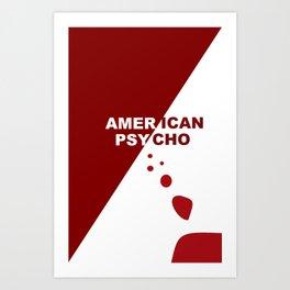 American Psycho Minimalist Art Print