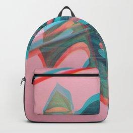 Glitch Monstera Theme Backpack