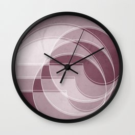 Spacial Orbiting Spiral in Mulberry Wall Clock