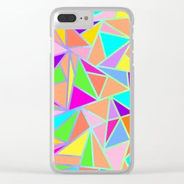 Vibrant Geometric - Home Decor Design Clear iPhone Case