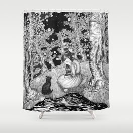 The Cat Prince Shower Curtain