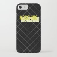 moschino iPhone & iPod Cases featuring MOSCHINO Quilted Bag by RickyRicardo787