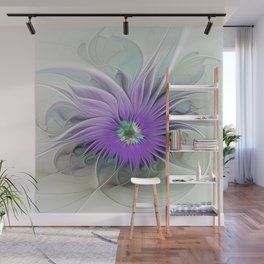 Flourish, abstract Fantasy Flower Wall Mural
