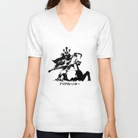 asian V-neck T-shirts featuring Asian Hunter by アジアのハンター