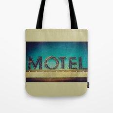 Grunge Motel Sign Tote Bag