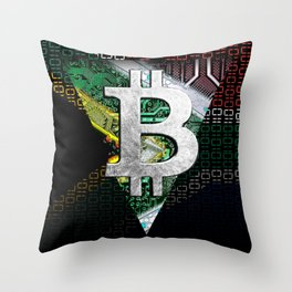 bitcoin South Africa Throw Pillow