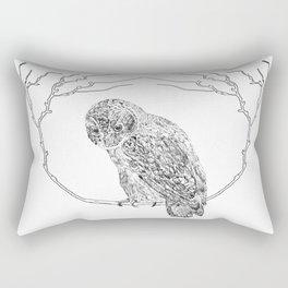 Owl In Tree (Print) Rectangular Pillow